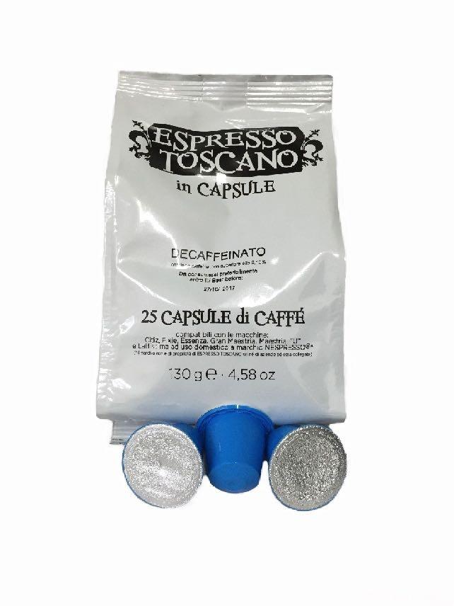 100 Capsules ESPRESSO TOSCANO Compatible NESPRESSO Decaffeinated