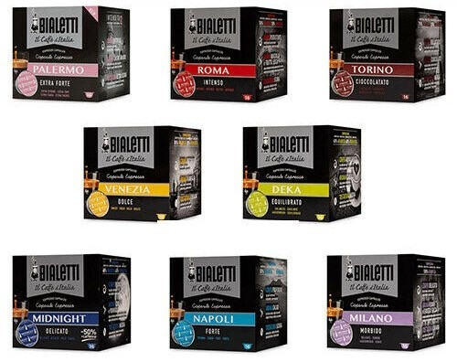 256 BIALETTI Coffee Capsules I Caffe' D'Italia Choose Your Flavors