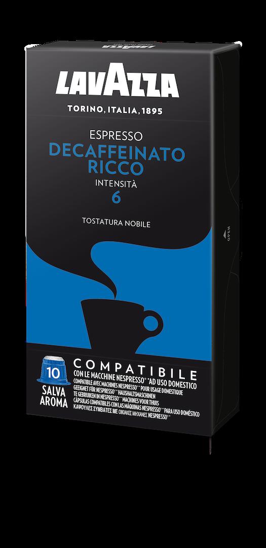 100 LAVAZZA Capsules Compatible Nespresso DECAFFEINATO