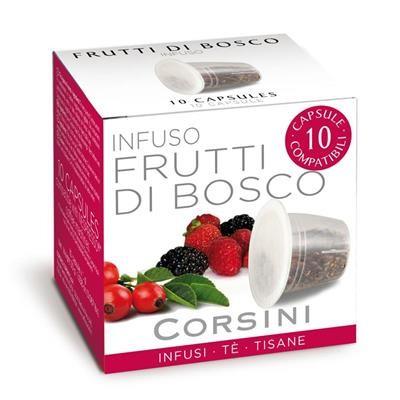 10 Capsule Compatibili Nespresso Caffe' Corsini Te' Ai Frutti Di Bosco