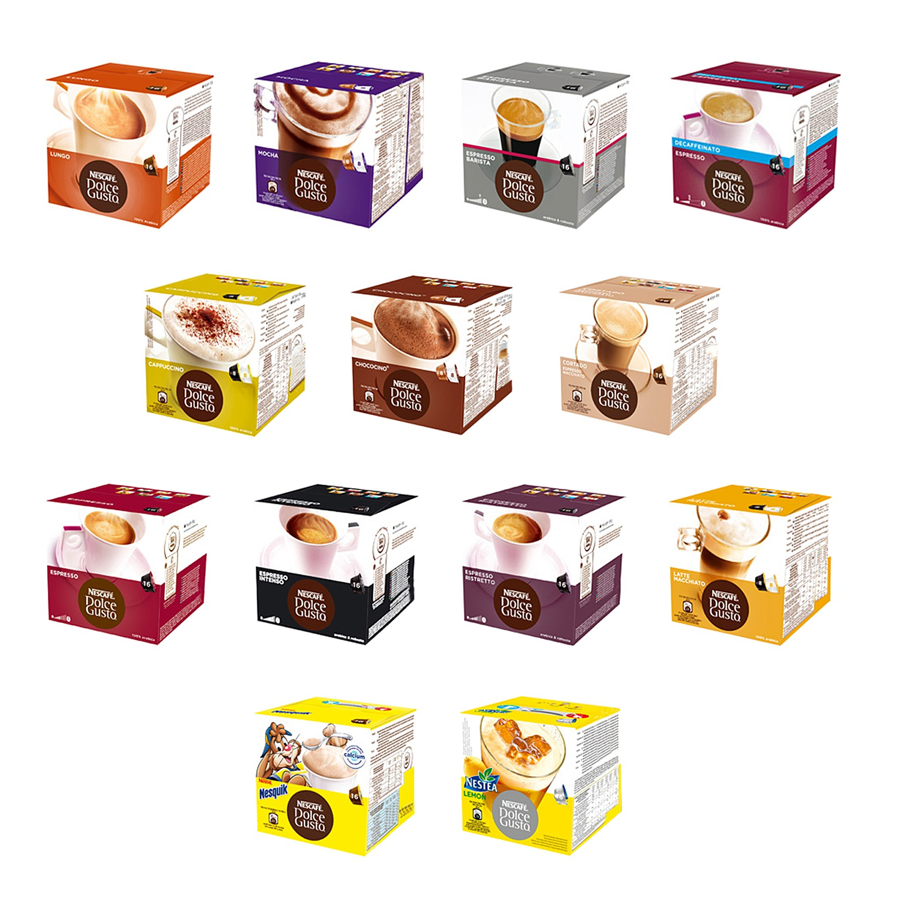 96 Coffee Capsules NESCAFE' DOLCE GUSTO Choose Your Flavors