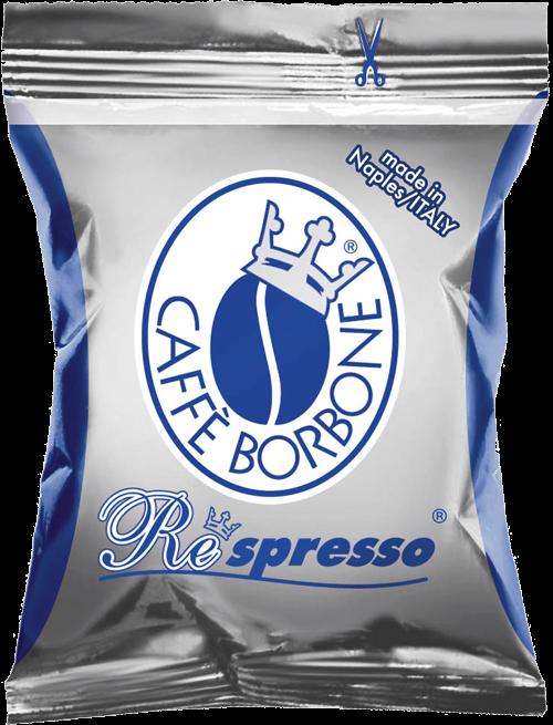100 Capsules Nespresso Compatible CAFFE' BORBONE Miscela Blu'